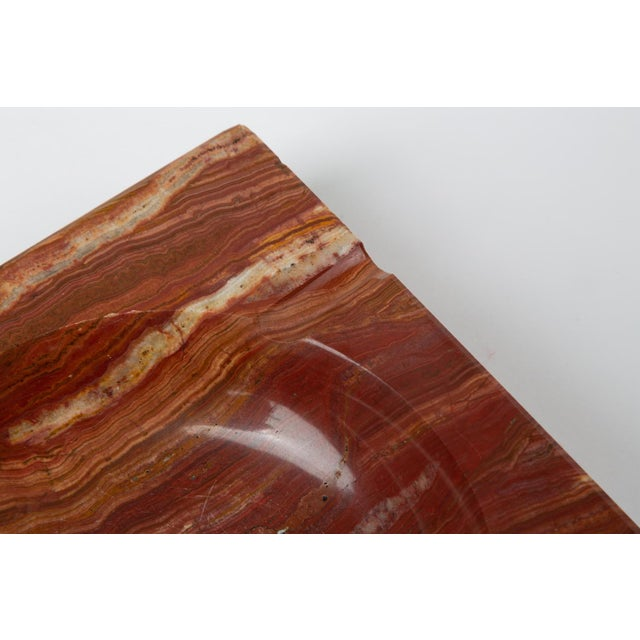 Vintage Square Ashtray in Red Onyx For Sale - Image 10 of 13