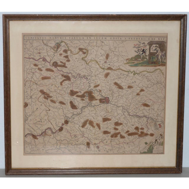 18th Century Map of the Historic County of Namur, Belgium For Sale - Image 9 of 9