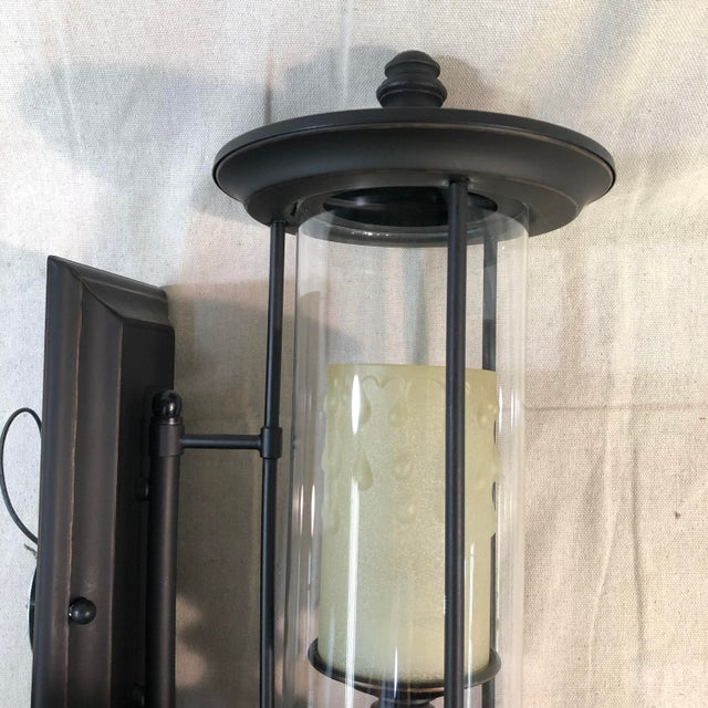2010s Savoy House Ch e 1-Light Outdoor Wall Lantern in English Bronze For Sale - Image 5 of 13