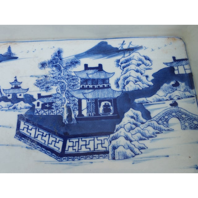 Hand Painted Blue & White Bulb Forcing Tray - Image 3 of 6
