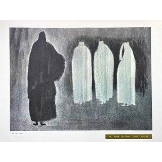 "1968 ""Prayer, Old Delhi"" Lithograph Numbered 126/1200 by Kiyoshi Saitō For Sale"