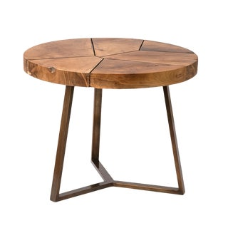 Teak Fragments Accent Table For Sale
