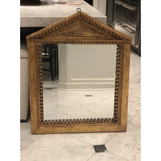 Antique George III Style Pedimented Giltwood Mirror For Sale - Image 10 of 13