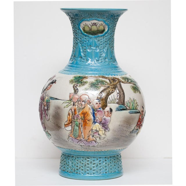 Early 20th C. Carved Famille Rose Vase - Image 3 of 11