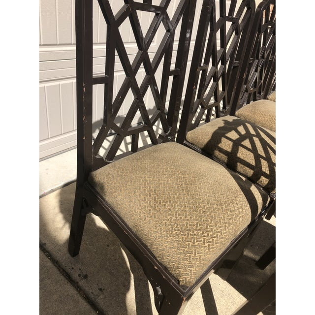Late 20th Century Late 20th Century Chinese Chippendale Dining Chairs by Century Furniture- Set of 8 For Sale - Image 5 of 7