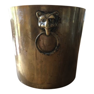 Vintage Traditional Brass Champagne Bucket For Sale
