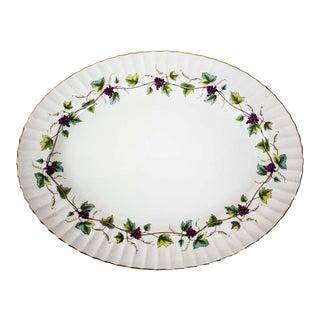 Vintage Royal Worchester Bacchanal Pattern Large Serving Platter For Sale