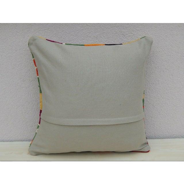 1990s Turkish Handmade Kilim Pillow For Sale - Image 5 of 6