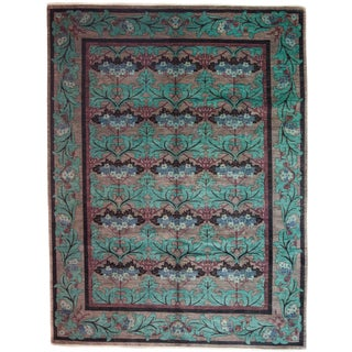 "Arts & Crafts Hand Knotted Area Rug - 7'10"" X 9'10"" For Sale"