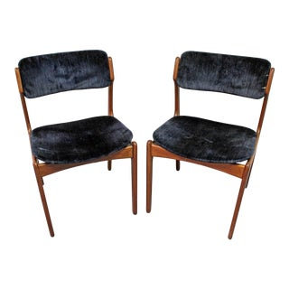 Pair of Mid-Century Danish Modern Erik Buch for o.d. Mobler Teak Dining Chairs For Sale