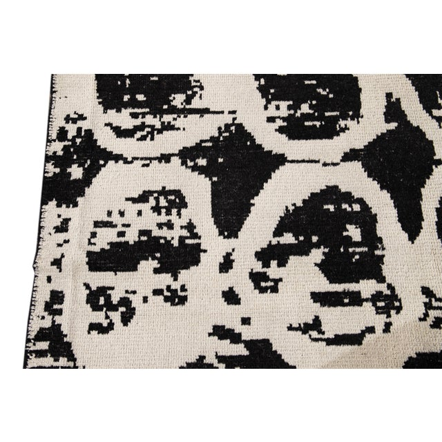 21st Century Modern Moroccan Style Wool Rug For Sale - Image 10 of 13