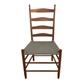 1990s Vintage Slat Back Shaker Side Chair For Sale