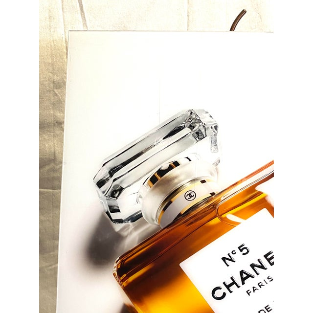 2010s Original Chanel Advertising Perfume Store Display Sign Plexi Glass Arcylic For Sale - Image 5 of 8