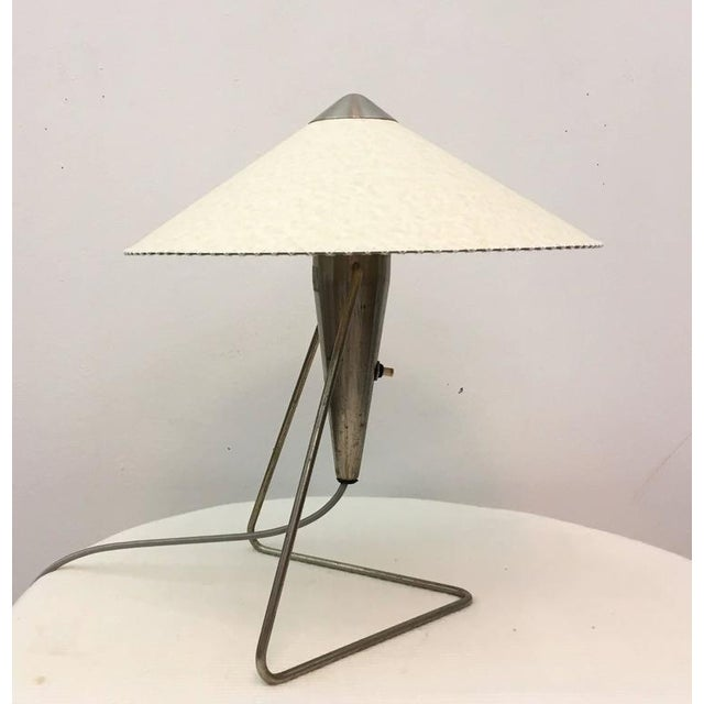 Czech Modernist Table Lamp by Helena Frantova for Okolo, 1950s For Sale - Image 4 of 11