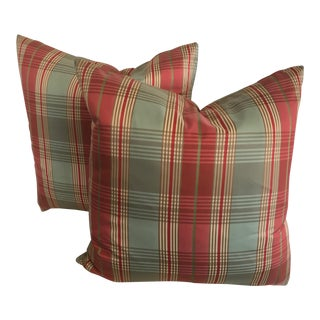 Thibaut Silk Pillows - a Pair