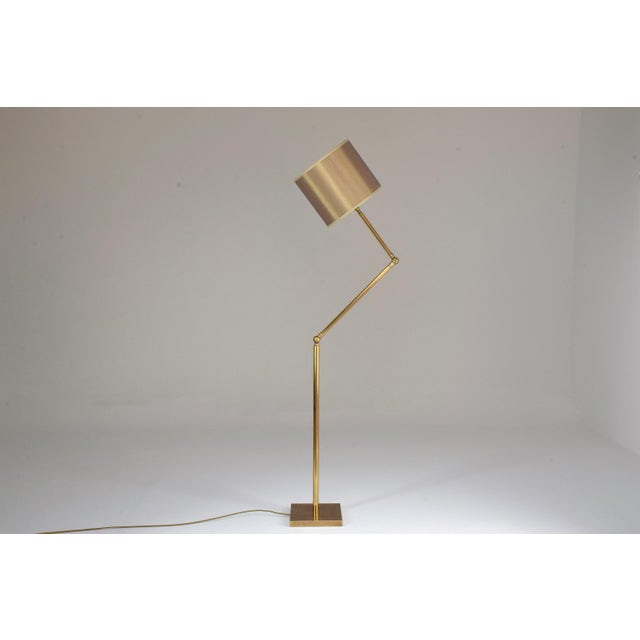20th Century French Brass Floor Lamp, 1960's For Sale - Image 12 of 12