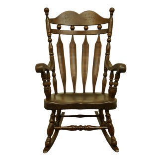 Ethan Allen Antiqued Pine Old Tavern Rocking Chair For Sale