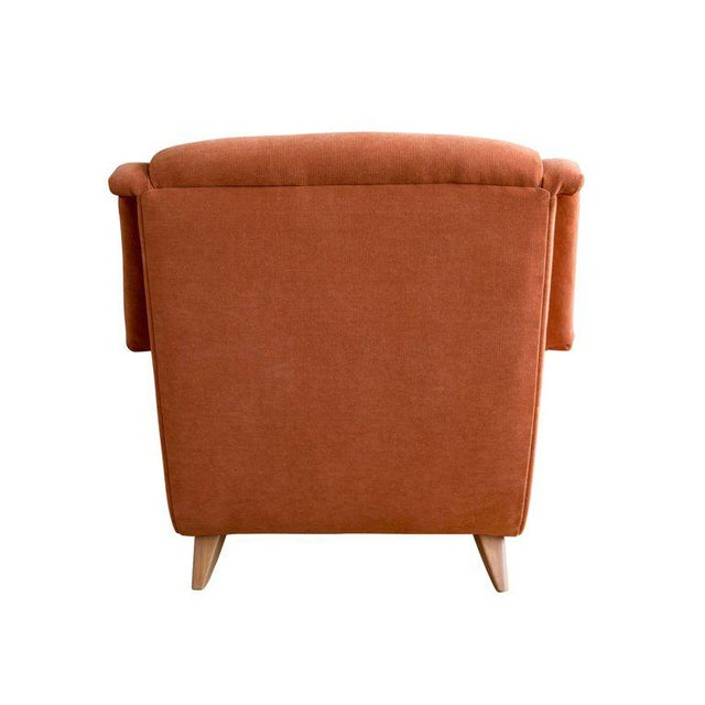 Maple 1950s Burnt Orange Upholstered Lounge Chair by Heywood Wakefield For Sale - Image 7 of 8