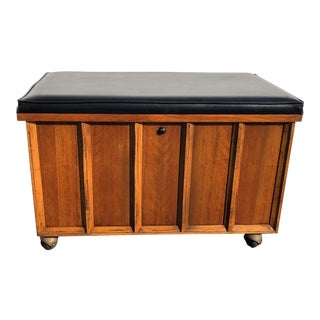 Mid Century Lane Record Cabinet Storage Chest Trunk For Sale