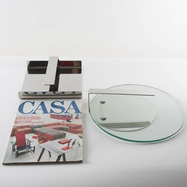 Set of Two Steel Desk Pieces by Mazza Gramigna for Krupp For Sale - Image 10 of 10