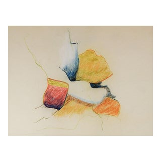 Color Pencil Abstract Drawing For Sale