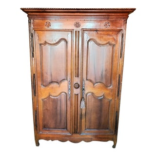 19th Century French Armoire With Star Motif For Sale