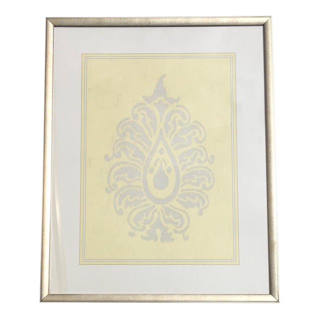 Yellow & Silver Damask Wall Art #2 by Iconic Pineapple - Image 1 of 5