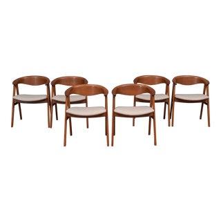 Scandinavian Modern Erik Kirkegaard Teak Dining Chairs, Model 57 For Sale