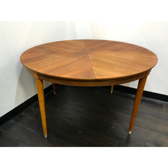 Mid-Century Modern B P John Wood Dining Table For Sale - Image 11 of 12