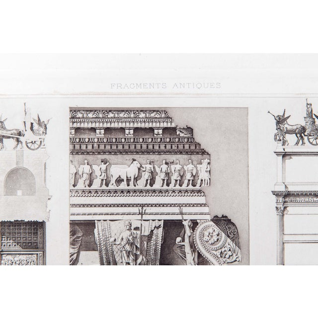 Mid-20th Century Architectural Lithograph With Giltwood Frame - Set of 3 For Sale - Image 4 of 13