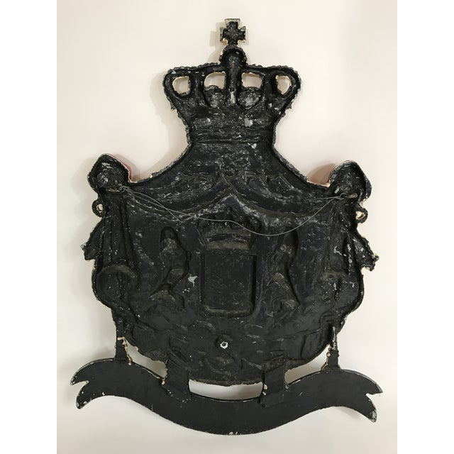 Dutch Cast Iron Coat of Arms of the Netherlands For Sale - Image 5 of 5