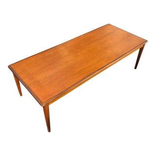 1960s Scandinavian Modern Teak Coffee Table For Sale