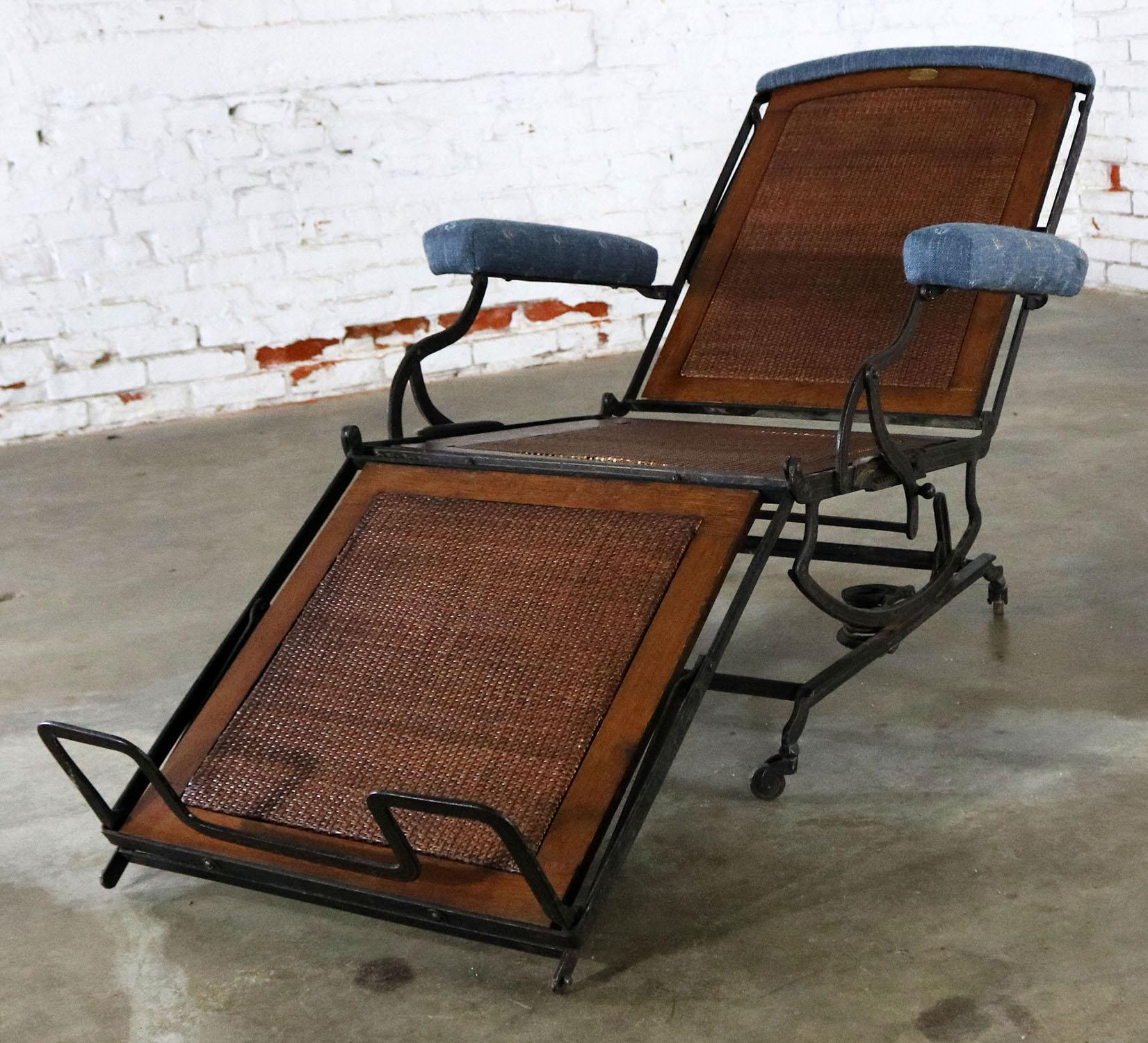 Antique adjustable folding c&aign style invalid chair or deck chair by the Marks Adjustable Chair Co & Marks Adjustable Folding Chair Company Campaign Style | Chairish