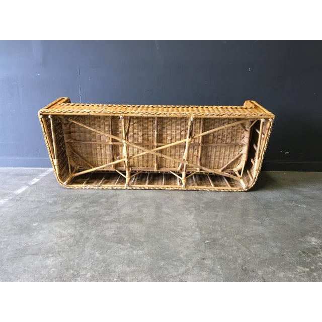 Vintage Mid-Century Modern Wicker Sofa For Sale In New York - Image 6 of 12