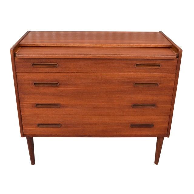 Danish Modern Danish Modern Teak Vanity Dresser For Sale - Image 3 of 10