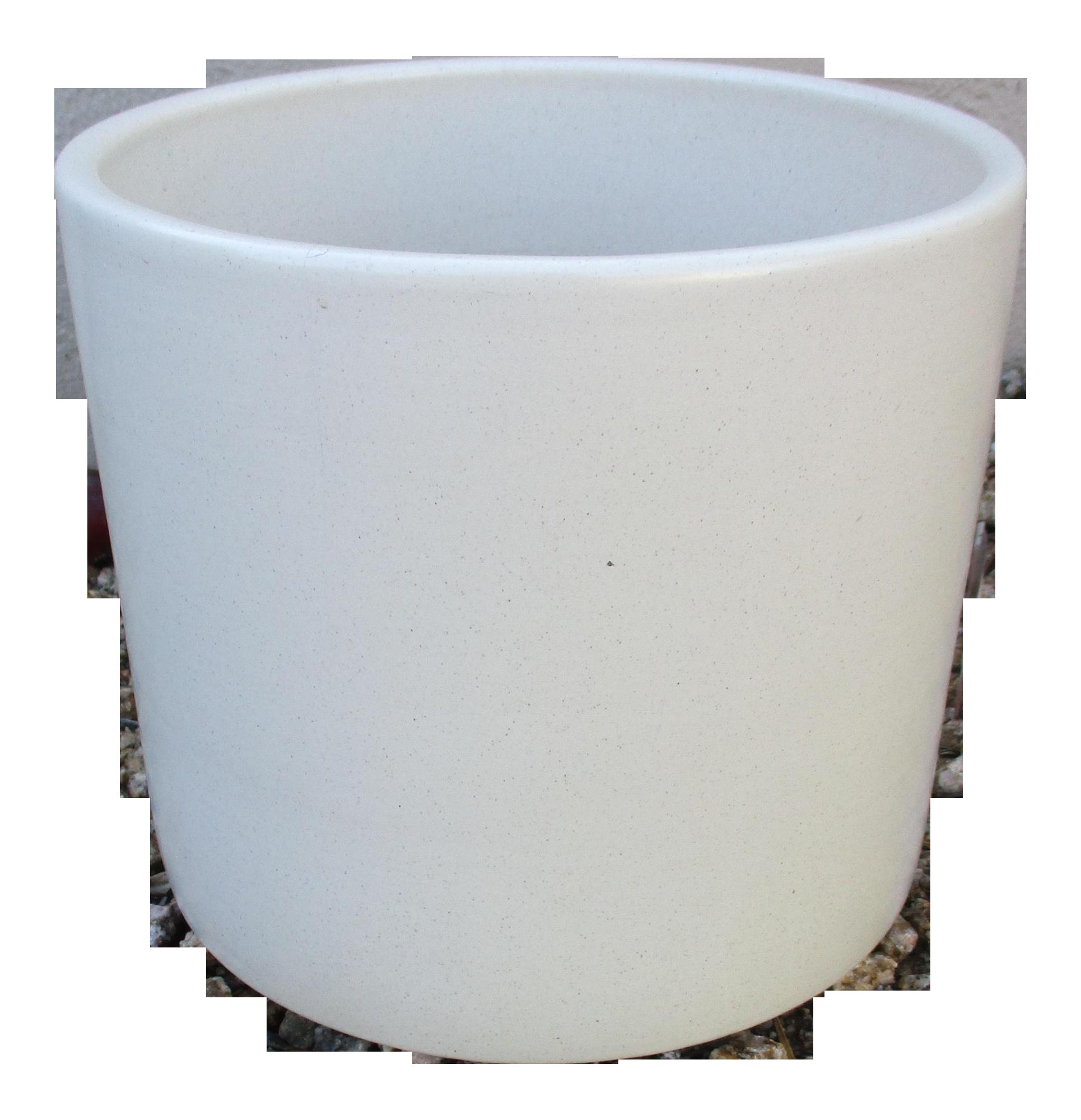 Gainey Ceramics Mid Century Modern White Ceramic Planter Chairish