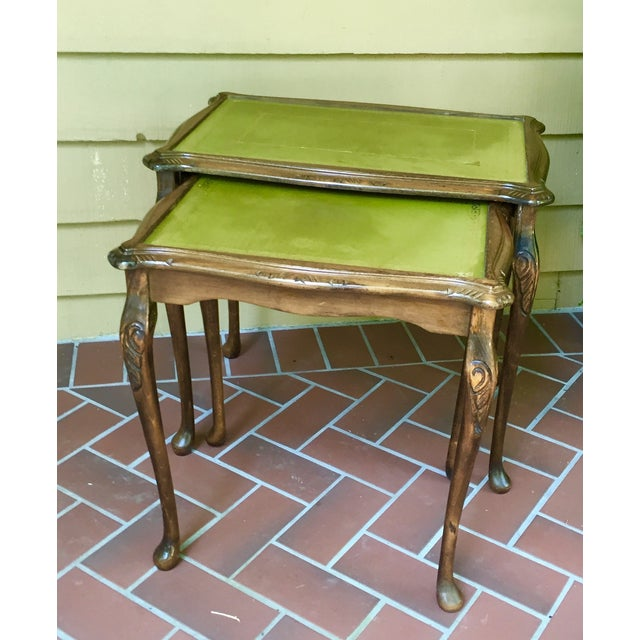 French Walnut Nesting Tables - A Pair - Image 2 of 11