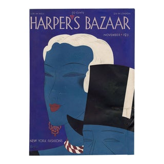 """Harper's Bazaar, November 1931."" Original Vintage Fashion Magazine Cover For Sale"