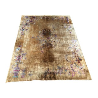 Antique Art Deco Nichols Chinese Rug - 8′10″ × 11′6″ For Sale