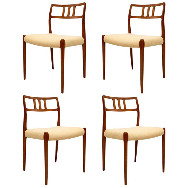 Set of 4 Niels Moller Dining Chairs For Sale