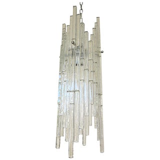 Italian Murano Glass Rods Chandelier by Poliarte For Sale