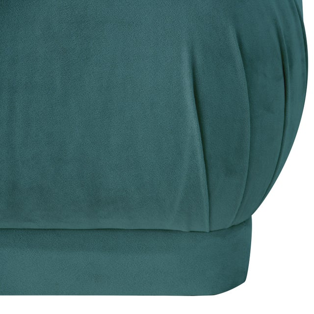 Contemporary Mystere Peacock Square Ottoman For Sale - Image 3 of 7