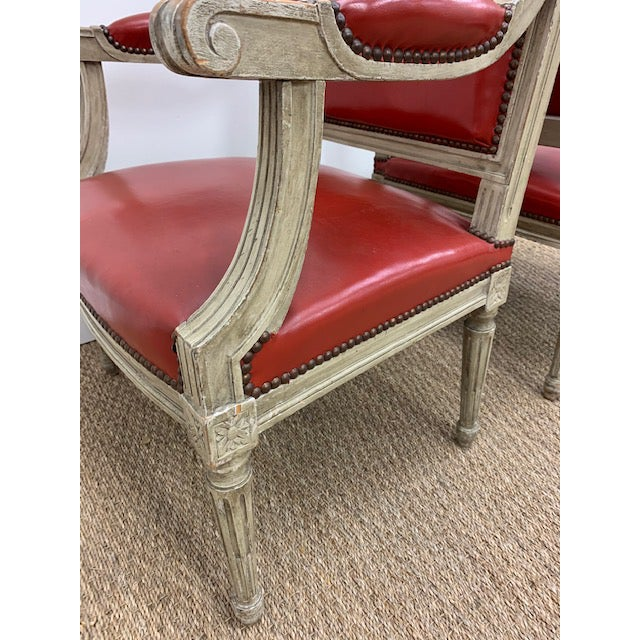 19th Century French Louis XVI Fauteuils Style Chairs - a Pair For Sale - Image 11 of 13