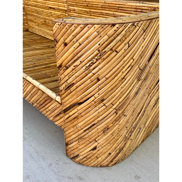 1960's Stacked Bamboo Sofa in the Manor of Gabriella Crespi For Sale - Image 12 of 13
