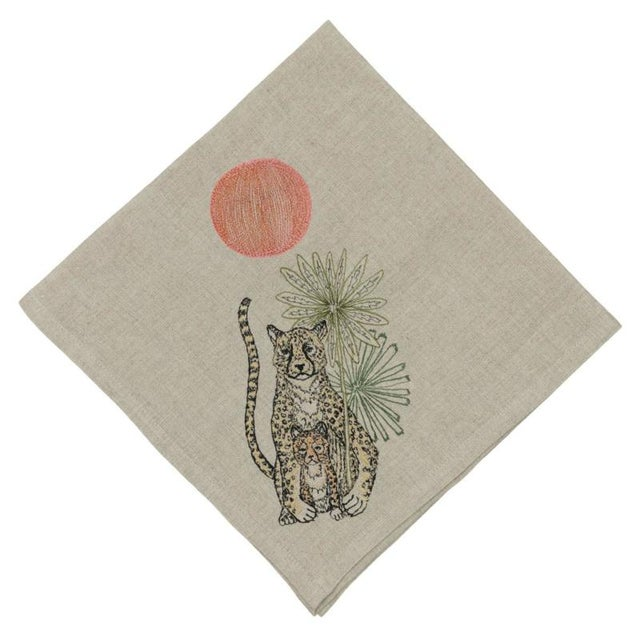 Jungle Cheetahs Dinner Napkin For Sale - Image 6 of 6