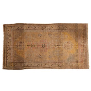 "Vintage Distressed Khotan Carpet - 4'11"" X 8'11"" For Sale"