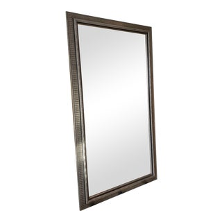 Mid-Century Modern Large Decorative Framed Mirror For Sale