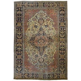 Antique Persian Mohtashem Kashan Rug For Sale