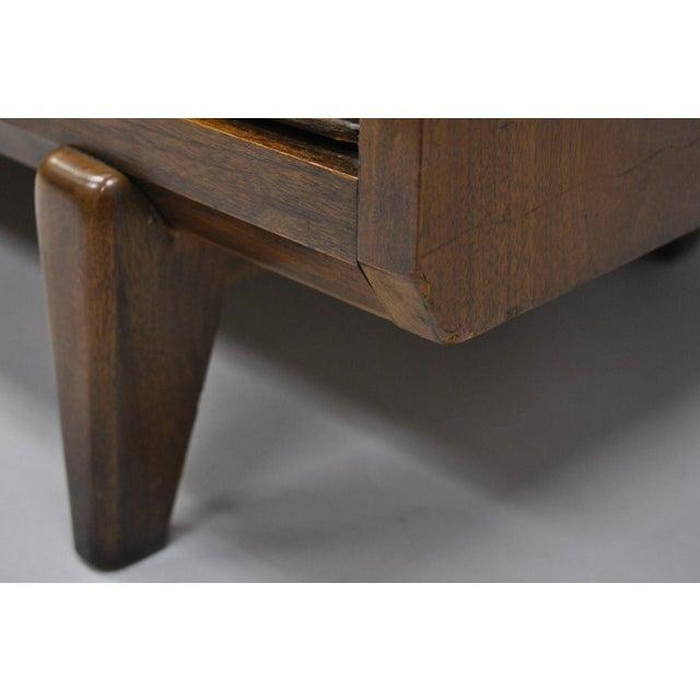 Century Furniture Century Furniture Mid-Century Modern Walnut China Cabinet For Sale - Image 4 of 12