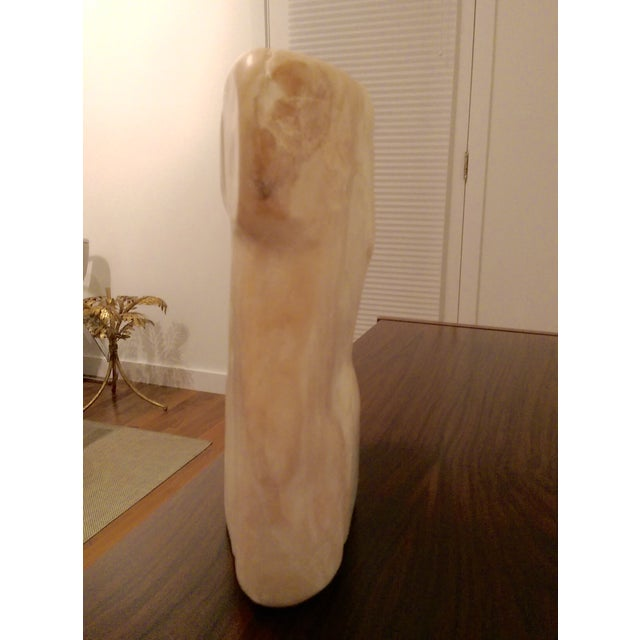 "Large (14.5"") Carved Marble Modern Torso / Nude - Image 10 of 10"